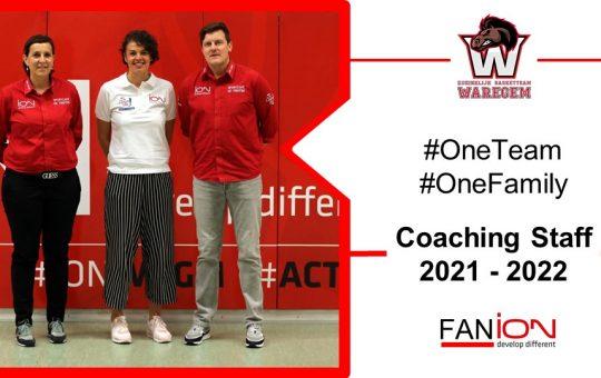 Coaching Staff Top Division Women ION Waregem 2021-22 ligt vast.